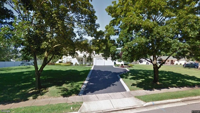 This Google Street View image shows the approximate location of 15 Crosswicks Road in Freehold Township. The property at this address changed hands in January 2020, when new owners bought the property for $482,500.