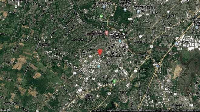 This aerial photo shows the approximate location of 28 Langley Place in New Brunswick. The property at this address changed hands in September 2019, when new owners bought the property for $160,000.