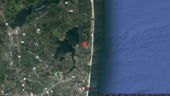 This aerial photo shows the approximate location of 36A Borden St. in Monmouth Beach. The property at this address changed hands in January 2020, when new owners bought the property for $910,000.