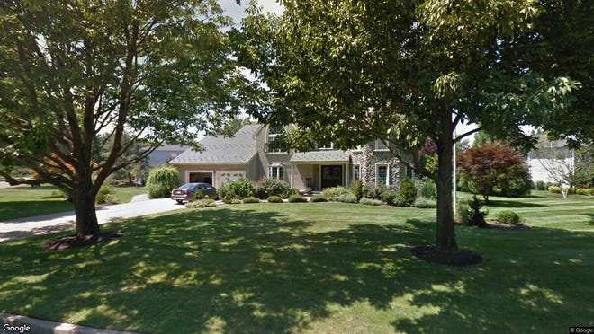This Google Street View image shows the approximate location of 131 Dorchester Way in Shrewsbury Borough. The property at this address changed hands in November 2019, when new owners bought the property for $965,000.