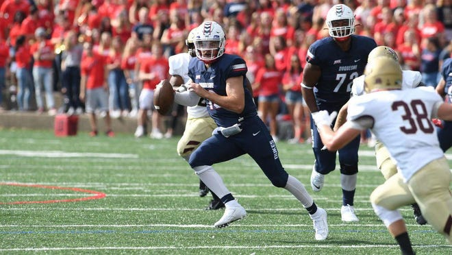 Former Dwyer High quarterback Daniel Parr completed 59 percent of his passes and threw 31 touchdowns in two seasons at Duquesne.