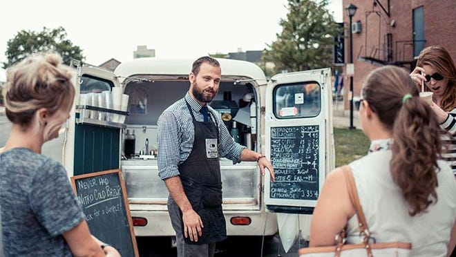 Owner Liam Hardy, who serves cold-brew coffee out of the back of his converted car, is one of the makers who will be featured at the virtual N.H. Maker & Food Fest presented by the Children's Museum of New Hampshire on Saturday, Aug. 29.