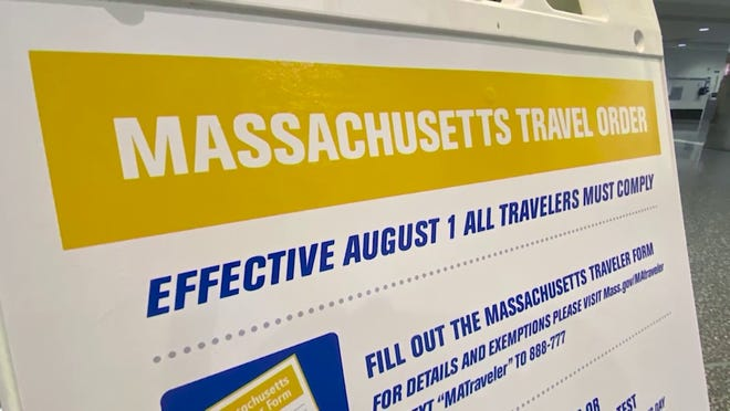 "Three days into the enhanced travel order, Massachusetts officials said ""thousands"" of travelers have submitted the required information upon entering the Bay State."