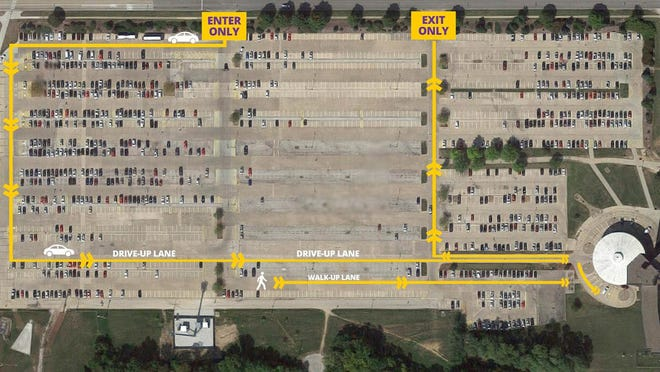 The Illinois Department of Public Health, in conjunction with the McDonough County Health Department, will host a free drive-thru COVID-19 test site on the Western Illinois University-Macomb campus from 9 a.m.-5 p.m. Monday-Tuesday, Oct. 19-20 in the Tanner Circle, in the far east section of Q-Lot. (Photo courtesy of Western Illinois University