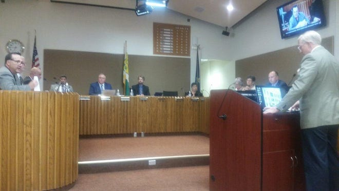 Topeka CIty Councilman Michael Lesser, far left, reported Sunday that he had been diagnosed with COVID-19.