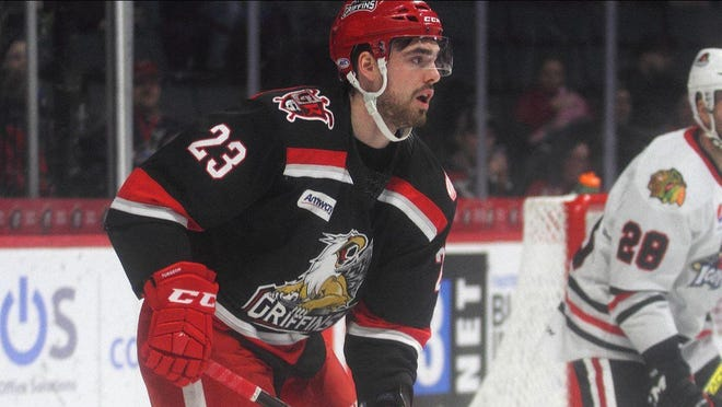 Dominic Turgeon played for the Griffins last year.