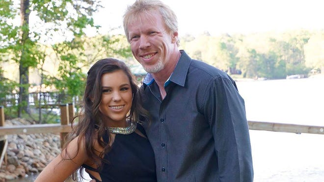 Payton Cannon and her father, David Cannon.