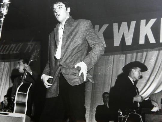 A young Elvis Presley.