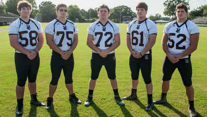 The most experienced group returning for the Vermilion Catholic Screamin' Eagles this season as Ossie Blaize returns as the program's head coach is the offensive line. That unit includes: Griffin Vicknair (58), Grayson Dubois (75), Zachary McRee (72), and Harrison Vicknair (61).