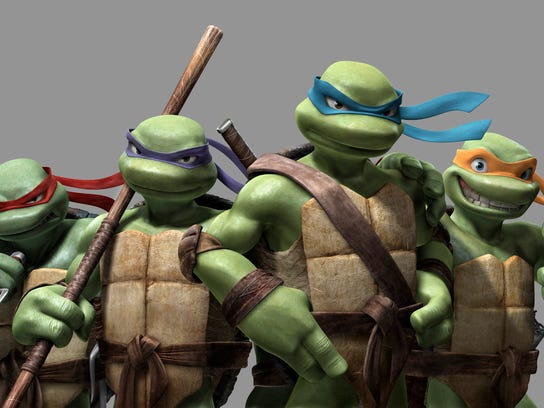 (L-R) Raphael, Donatello, Leonardo and Michelangelo from the motion picture TMNT - (Teenage Mutant Ninja Turtles) --- DATE TAKEN: rec'd 03/07 No Byline Imagi Production Limited/Warner Bros. HO - handout ORG XMIT: ZX57782