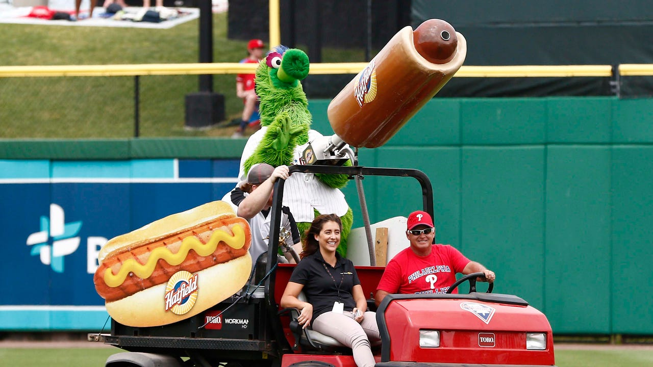 Phillies fan hurt by flying hot dog