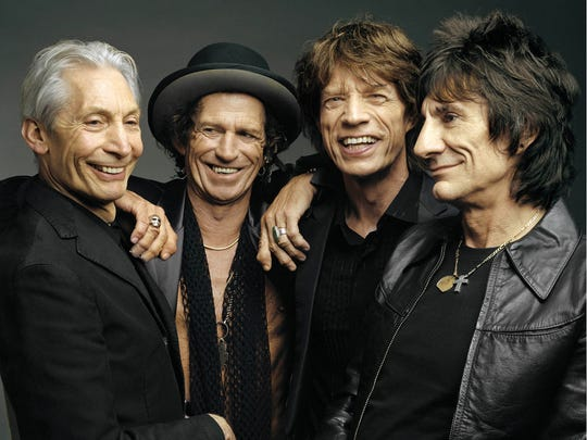 (L-R) Charlie Watts, Keith Richards, Mick Jagger, and