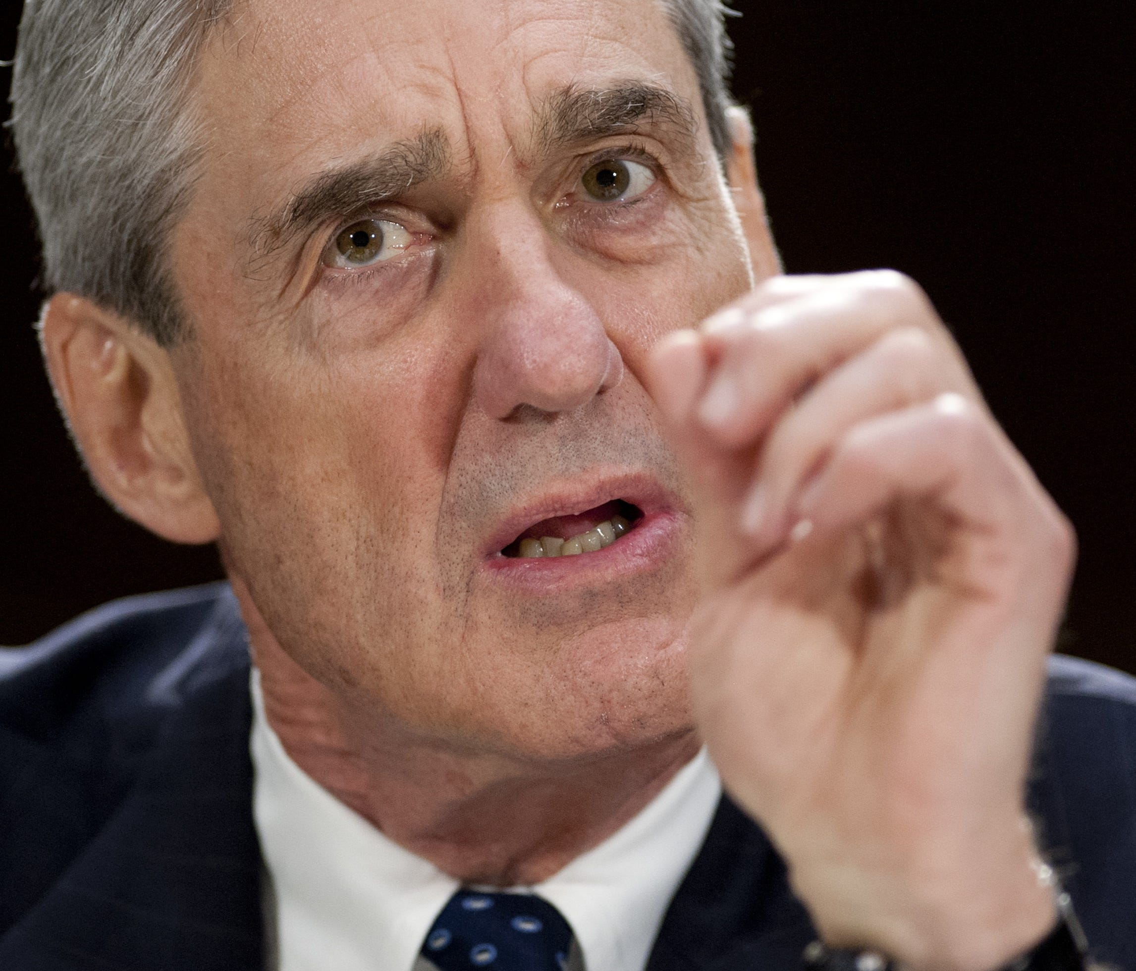 Then-FBI Director Robert Mueller testifying before the Senate Judiciary Committee on Capitol Hill in Washington.
