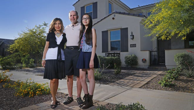 Victoria and Brian Della Valle moved to the Valley in 2014. They chose to buy a home in the growing Eastmark community in Mesa to be near a school for Brianna, their daughter.