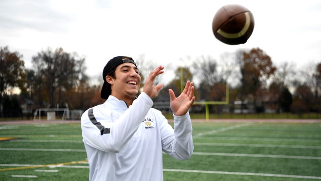 River Dell quarterback David Estevez is hoping to cap his high school career with back-to-back sectional titles.