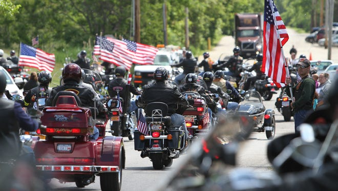 A 2011 file photo of the Patriot Guard Riders.