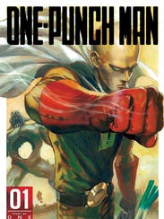 """""""One-Punch Man"""" cover art from the first issue of the"""