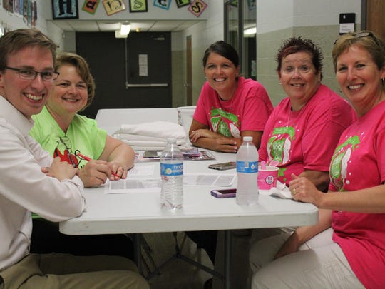 Celebrity scoopers Committee members Josh Merkel, Kim Merkel, Brooke Althaus, Natalie Jones and Hope Wells met to put plans together for their upcoming 6th Annual Celebrity Scoop Night. The event is on the calendar for Sept. 14, benefitting Hangers and taking place at Baskin Robbins.