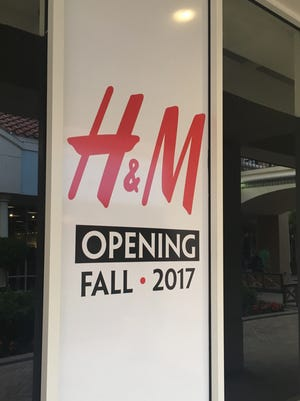 H&M is slated to open at Miromar Outlets, according to advertising at a storefront at the mall.