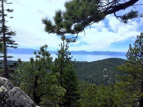 The trail from Spooner Summit to Snow Valley Peak has several marked places to take in views.
