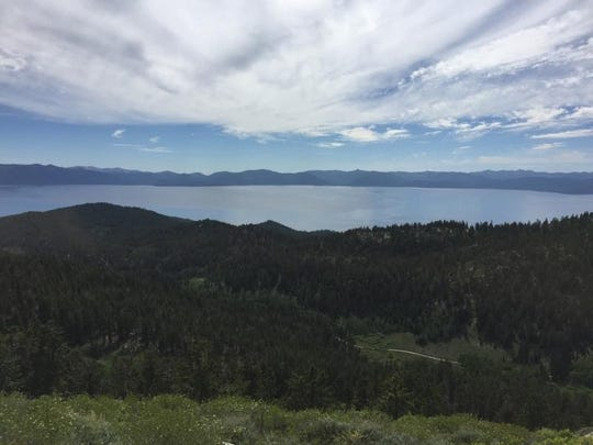 A view of Lake Tahoe from the Tahoe Rim Trail en route to Snow Valley Peak.