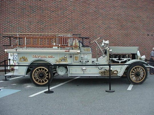 This 1919 firetruck was restored the Seaford Volunteer Fire Department.