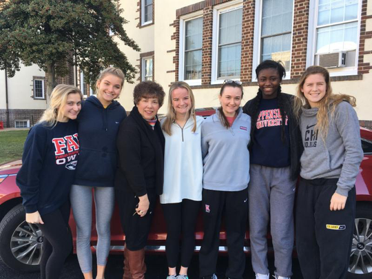 Principal Carolyn Zogby auctioned off her parking space, which was wone by seniors Olivia Barone, Fran Crivelli, Kayla Larmore, Martha Skehan, Kryshell Gordy and Lindsay Brown.