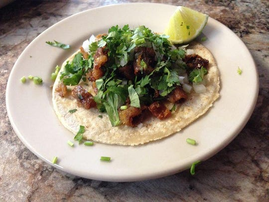 "Be bold and try the ""krispy"" tripe taco at La Tiendita. Think of as a taco made from bacon bits."