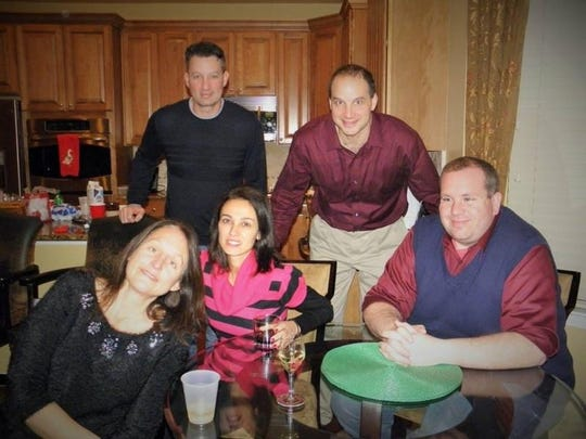 James Perri (standing, left) with his brother Jack (standing, right), the LIU Brooklyn basketball coach, along with sister Ann Koba, wife Nancy and brother-in-law Michael Coffey.