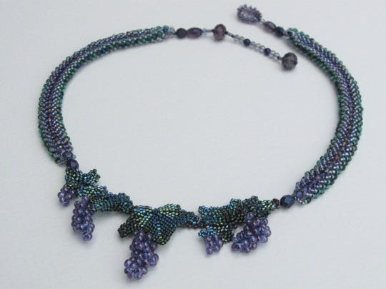 The Vineyard necklace, one of local artist Angie Terry's