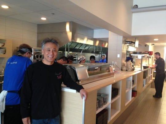 Chef Takashi Yagihashi at Ann Arbor's Slurping Turtle restaurant.