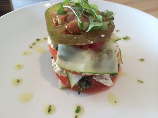 Heirloom Tomato Lasagna at Cidr Press.JPG