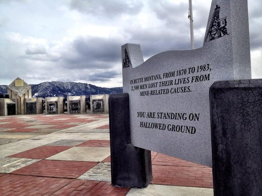 From 1870 to 1983, 2,500 men died from mining-related causes. The memorial honors them, and particularity the 168 men who died in the North Butte Mining Disaster of 1917.