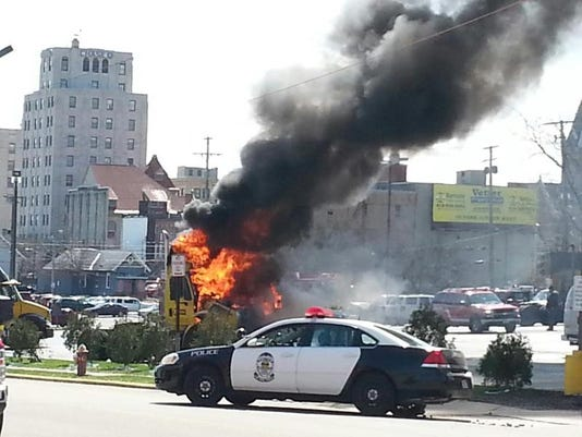 -Semi cab fire behind Holiday Inn.jpg_20140416.jpg