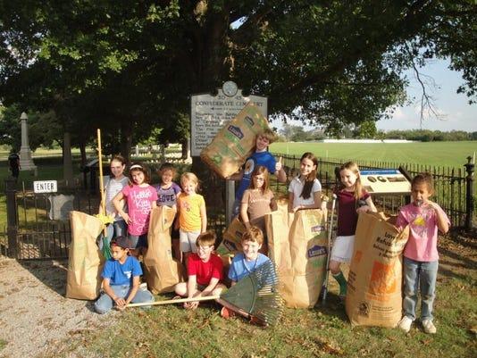McGavock Cemetery Clean-Up.JPG