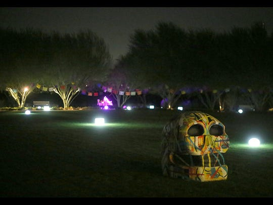 Sunnylands Center and Gardens' Day of the Dead exhibition runs through Friday.