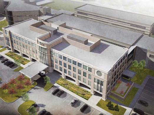 <p>Workbegan Feb. 13, 2014, on a four-story, 96,703-square-foot women's center at St. Vincent Carmel Hospital campus. The project also includes a 512-space expansion of the parking lot, hospitalofficials said in a news release.</p>