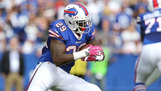 Karlos Williams scored nine touchdowns as a rookie for the Bills.
