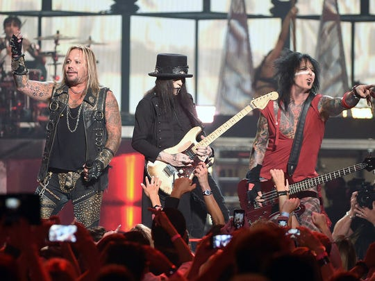 Motley Crue plays the iHeartRadio Music Festival in Aug. 2014.