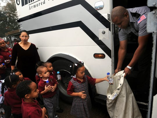Students at Immaculate Heart of Mary School drop off