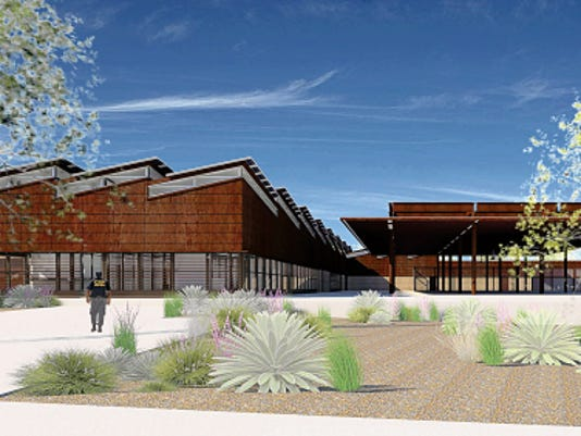 Courtesy image   Here is an updated architect's rendering of the future land port of entry at Columbus, N.M.