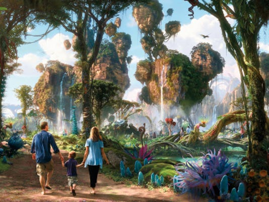 """Walt Disney Imagineering in collaboration with filmmaker James Cameron and Lightstorm Entertainment is bringing to life the mythical world of Pandora, inspired by Cameron's """"Avatar"""" at Disney's Animal Kingdom theme park. Scheduled to open in 2017, the """"Avatar""""-inspired land will be part of the largest expansion in Disney's Animal Kingdom history."""