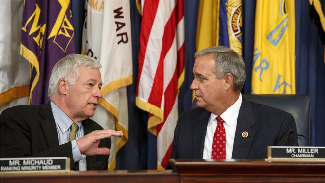 Rep. Jeff Miller, R-Fla. (right), chair of the House Committee on Veterans' Affairs, and Rep. Mike Michaud, D-Maine (left), ranking minority member on the committee.