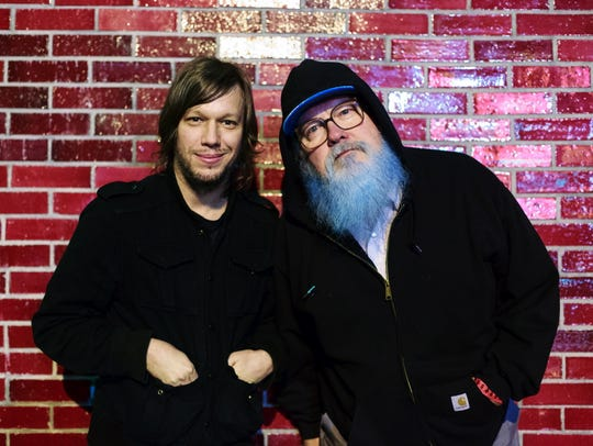 R. Stevie Moore (right) and Jason Faulkner teamed up