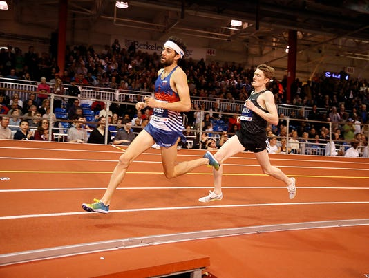 Hastings' Kyle Merber in Millrose Wanamaker Mile