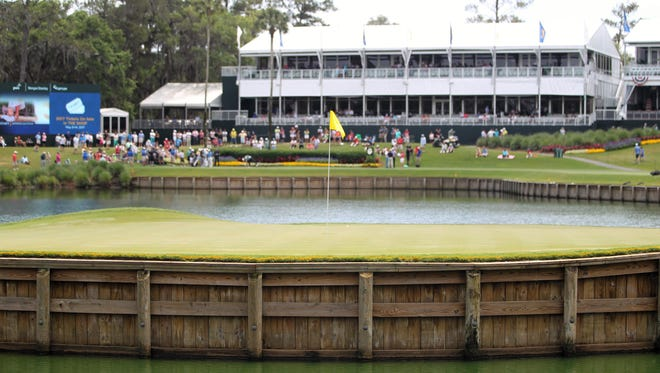 The par-3 17th hole at TPC Sawgrass is infamous for its island green.