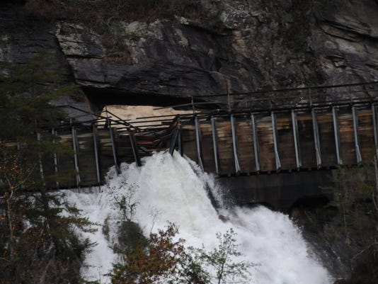 Rock Slide Damages Wooden Flume At TVAs Ocoee Dam No 2