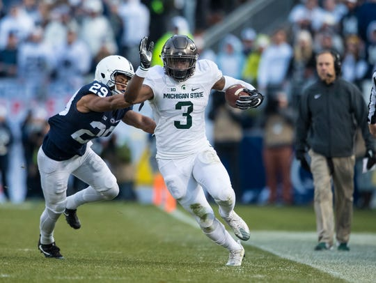LJ Scott, shown here last year against Penn State,