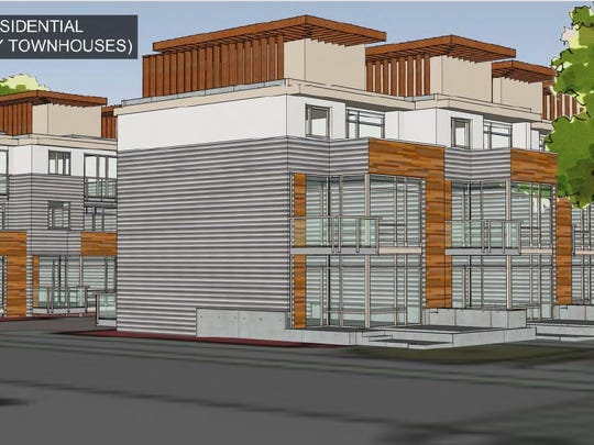 The townhouse alternative for the site. The townhouses