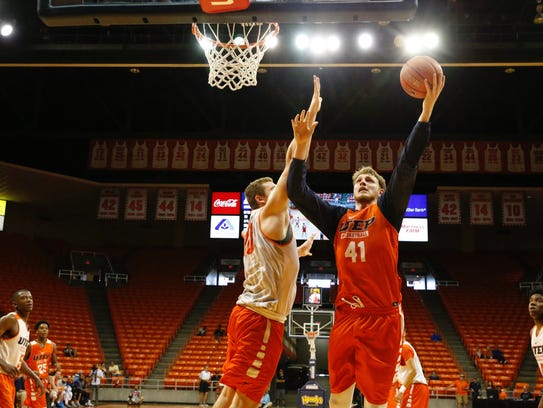 The UTEP returnees came from a first half deficit to